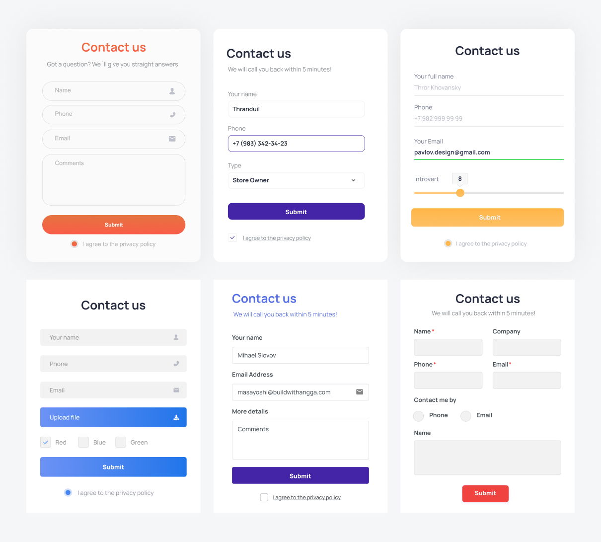 Examples of simple forms