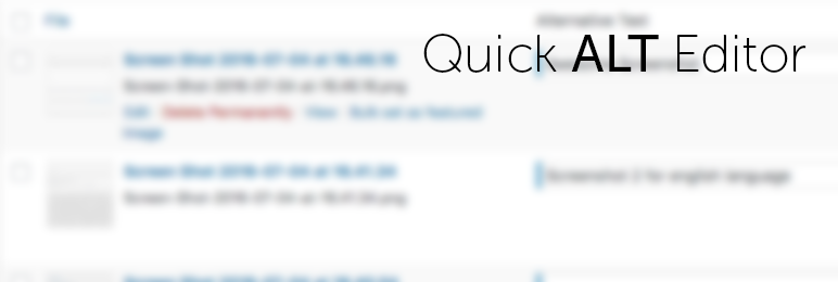 Quick Alt Editor