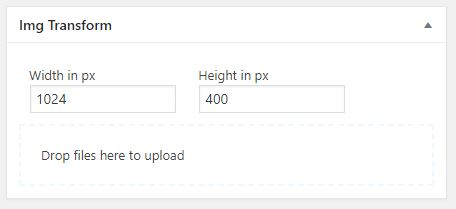 Upload of files on dashboard