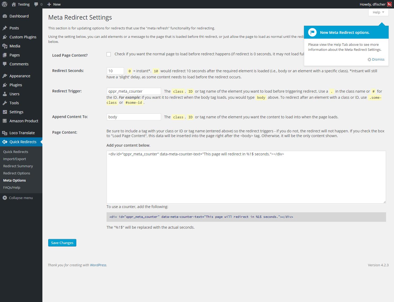 Quick Page/Post Redirect Plugin — WordPress Plugins
