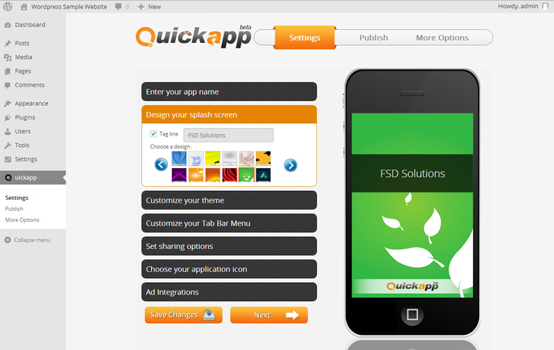 quickapp screenshot 2