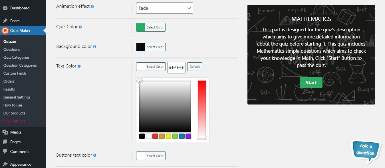 Quiz Maker – WordPress plugin | WordPress org