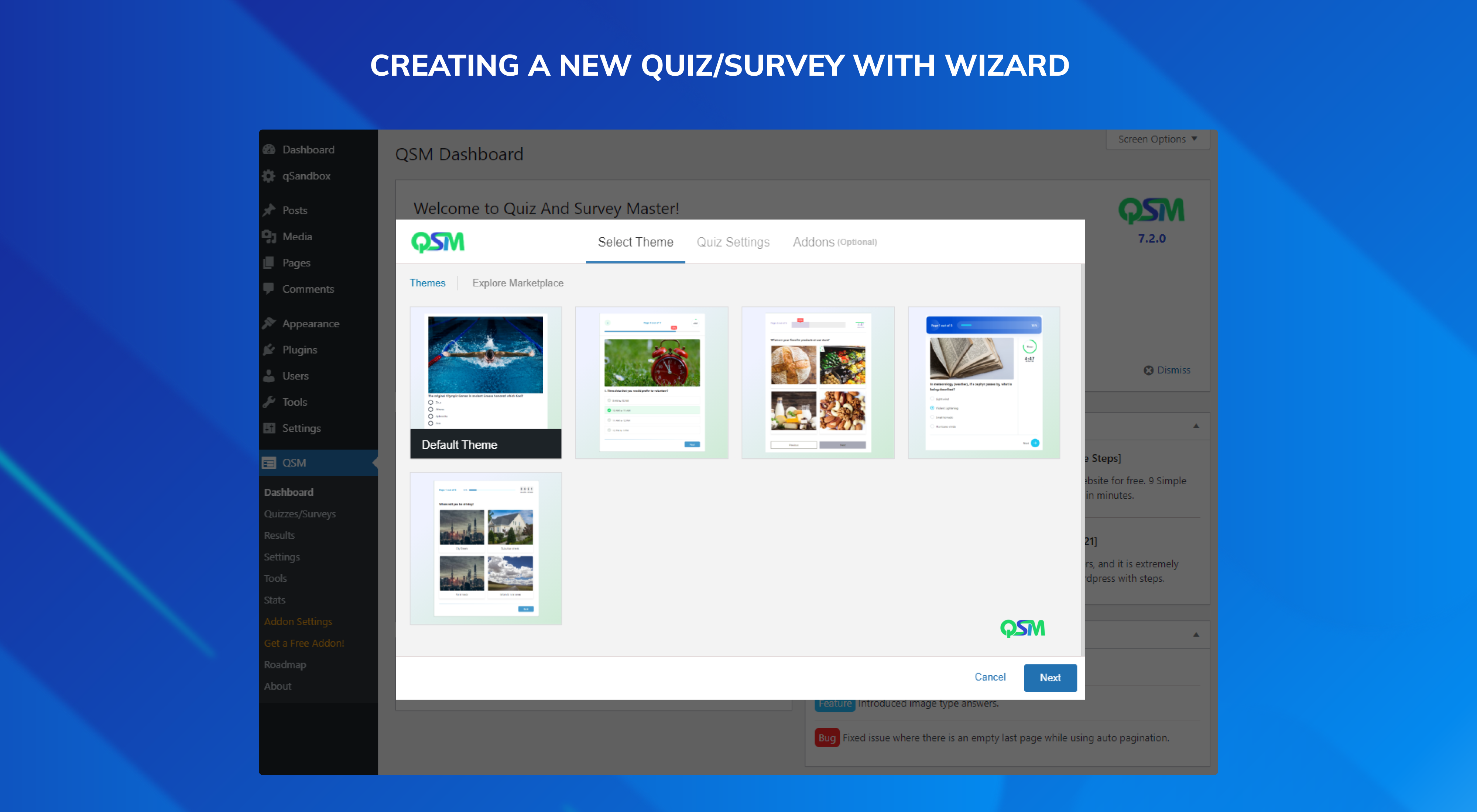 クイズやアンケート機能を追加するプラグイン「Quiz And Survey Master – Best Quiz Plugin for WordPress」|Knowledge Base