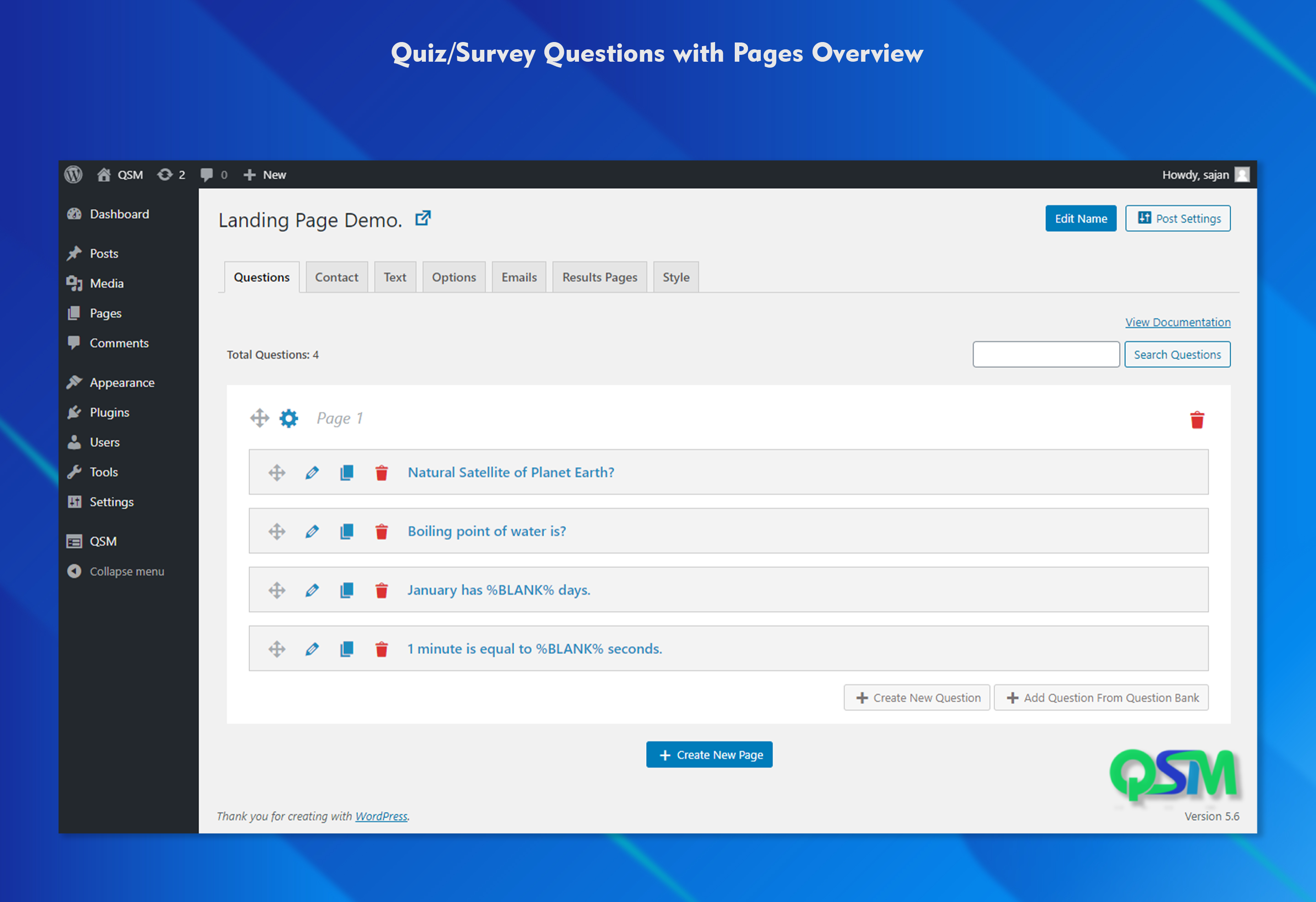Quiz And Survey Master – Quiz Plugin for WordPress – WordPress