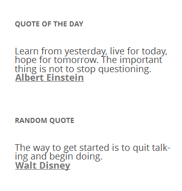quote of the day and random quote wordpress org