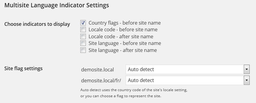User profile settings.