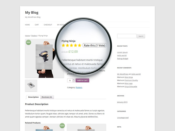 WooCommerce Full Integration - Interactive Product Star Ratings