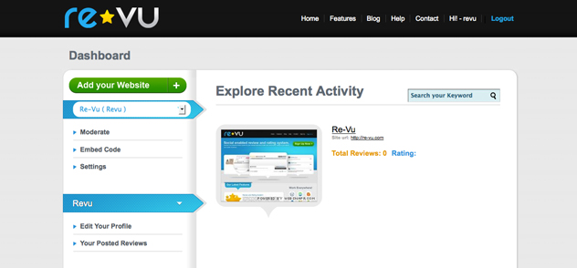 Using Re-Vu is easy. Here's what your Re-Vu profile will look like.