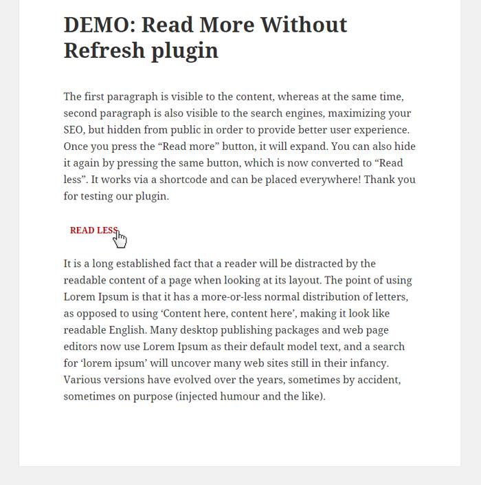 Read More Without Refresh – WordPress plugin | WordPress org