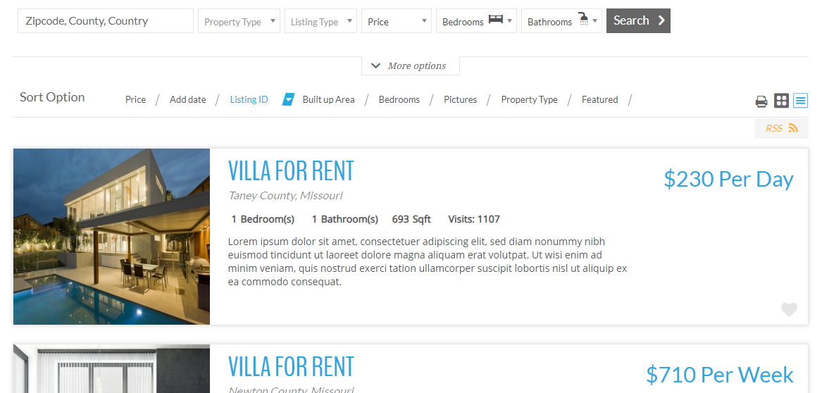 Realtyna Organic IDX plugin + WPL Real Estate – WordPress