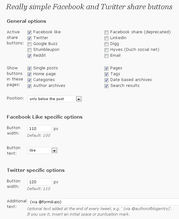 really-simple-facebook-twitter-share-buttons screenshot 2