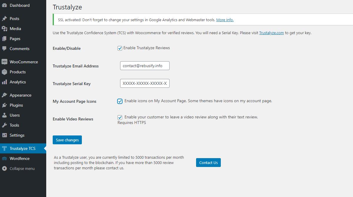 Trustalyze Verified Reviews WooCommerce Extension