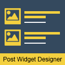 Recent Posts Widget Designer