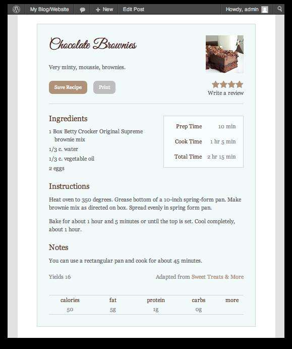 Modern Recipe Cards Recipe-card Screenshot 10