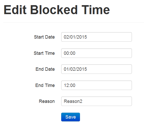 Edit Blocked time. (Available only for Basic package users)