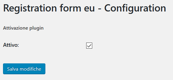 Registration form eu