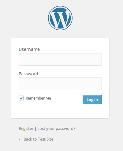 "A screenshot of the login form with ""Remember Me"" checked by default"
