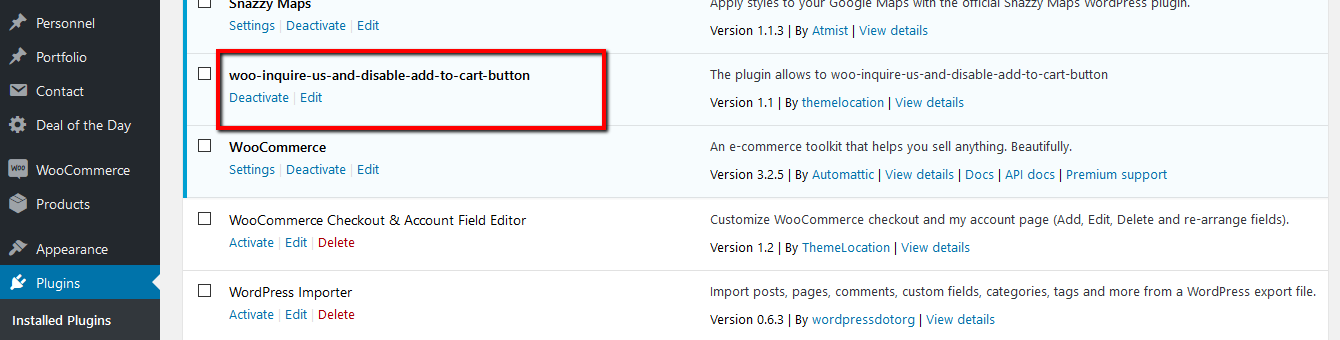 Remove Add to Cart WooCommerce – WordPress plugin | WordPress org