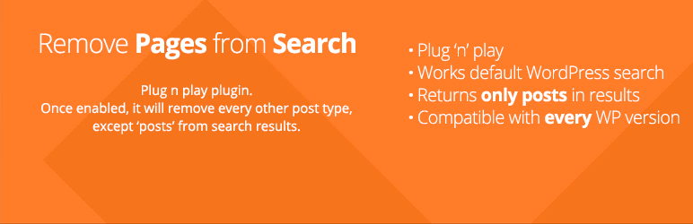 Remove Pages From Search