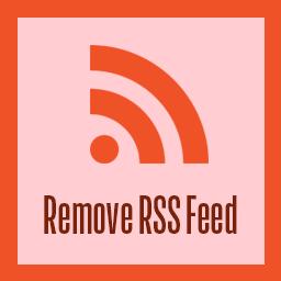 Remove Rss Feed Wordpress プラグイン Wordpress Org 日本語