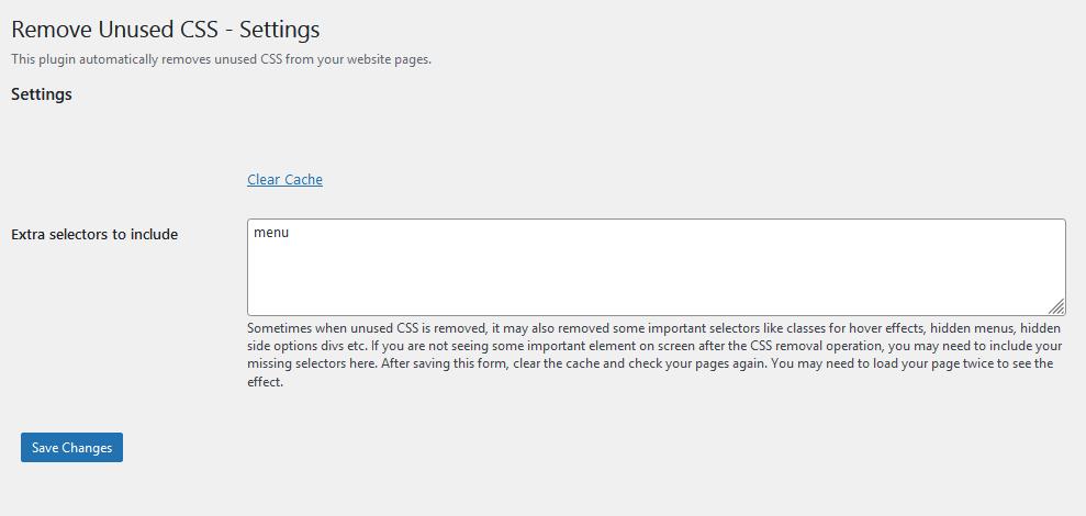 This is the screenshot of plugin settings.