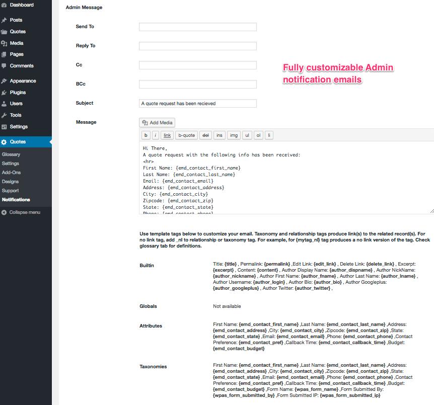 Request A Quote — WordPress Plugins