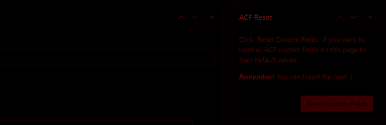 Reset Button for ACF