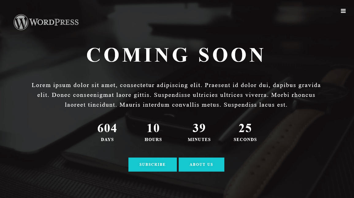 coming soon page maintenance mode wordpress org