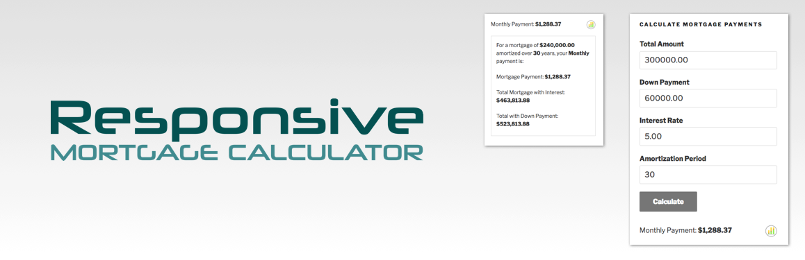 Down Payment Calculator >> Responsive Mortgage Calculator Plugin Wordpress