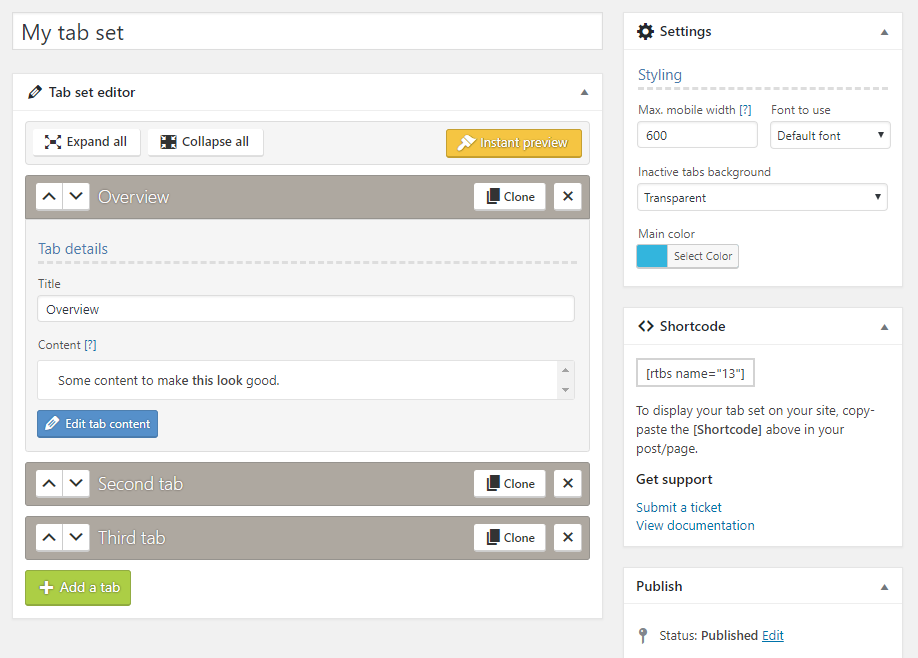 Responsive Tabs - 3 3 1 : WordPress Plugin Detail