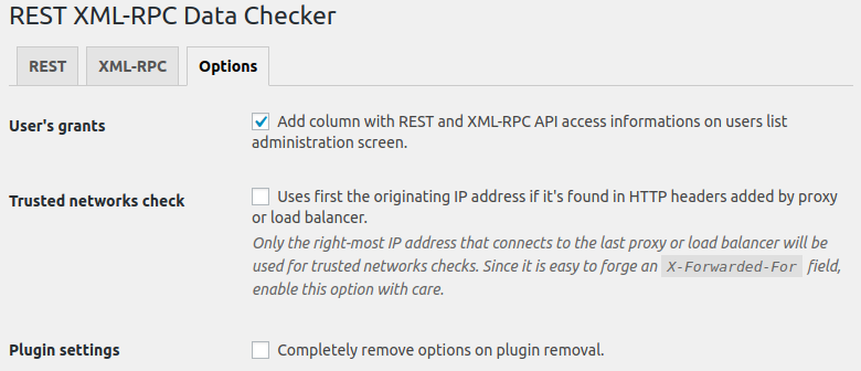 Enable XML-RPC and REST interfaces on user profile/user edit pages (available only for users with <code>edit_users</code> capability).