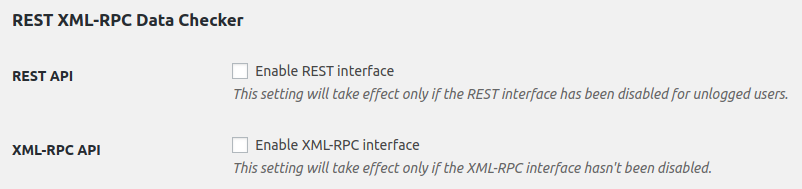 Enable XML-RPC and REST interfaces on user profile/user edit pages (available only for users with edit_users capability).