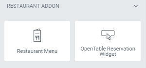 "You'll find the new elements under the category ""Restaurant Addon"""