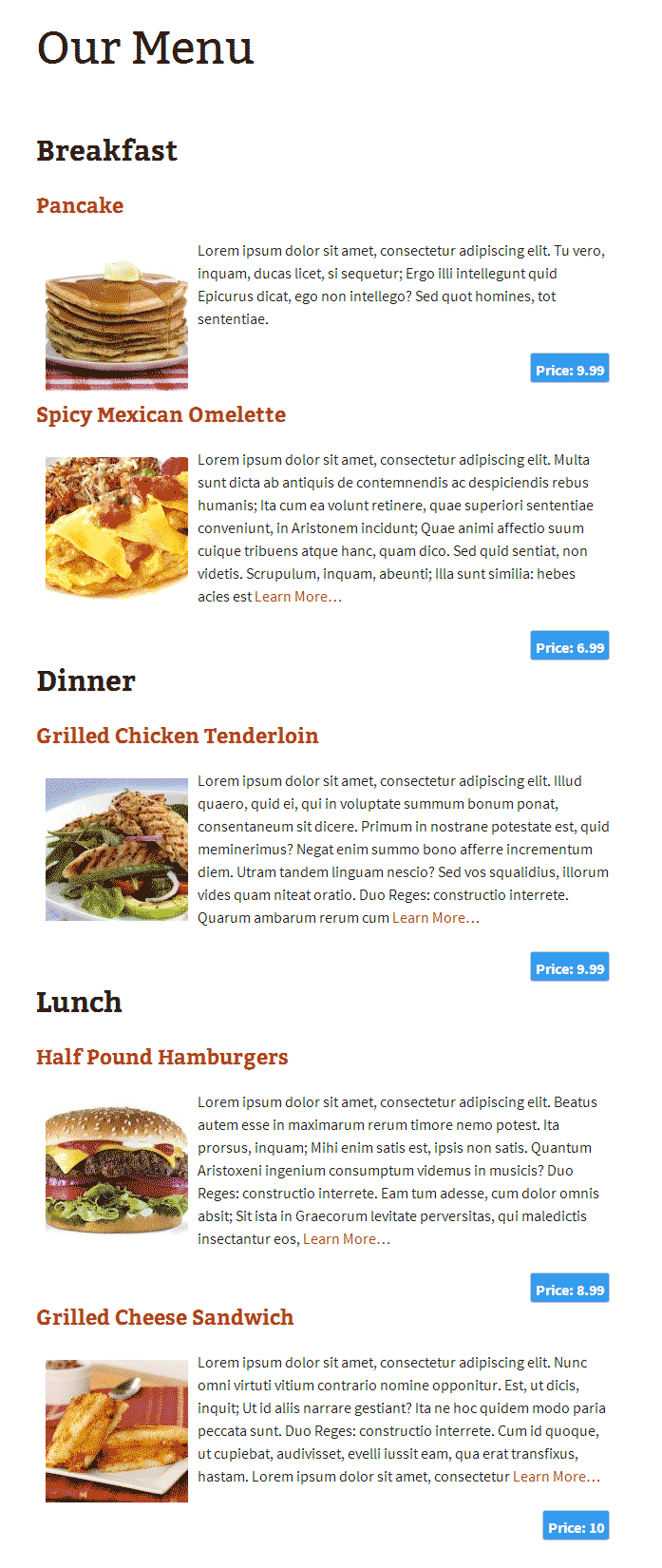 restaurant menu manager wordpress org