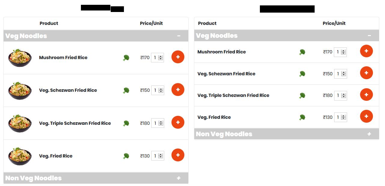 Restaurant Menu plugin for WooCommerce