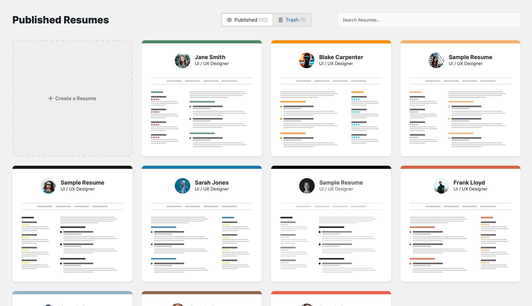 Resume BuilderWordPress Plugins