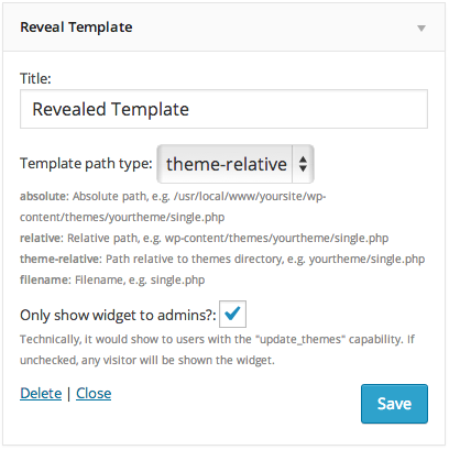 reveal template wordpress org