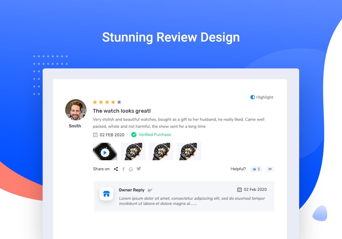 ReviewX – Multi-criteria Rating & Reviews for WooCommerce