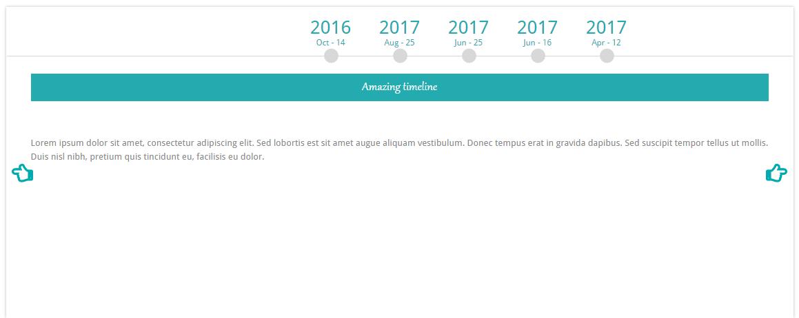 timeline for event