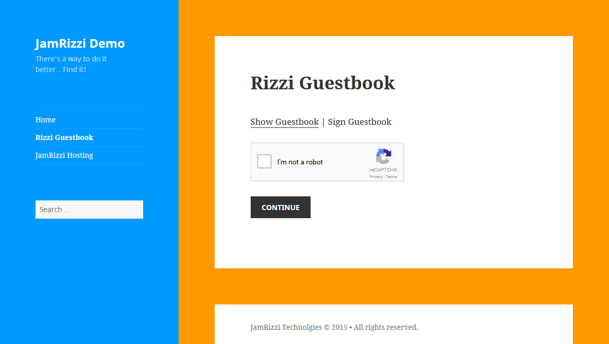 rizzi-guestbook screenshot 5