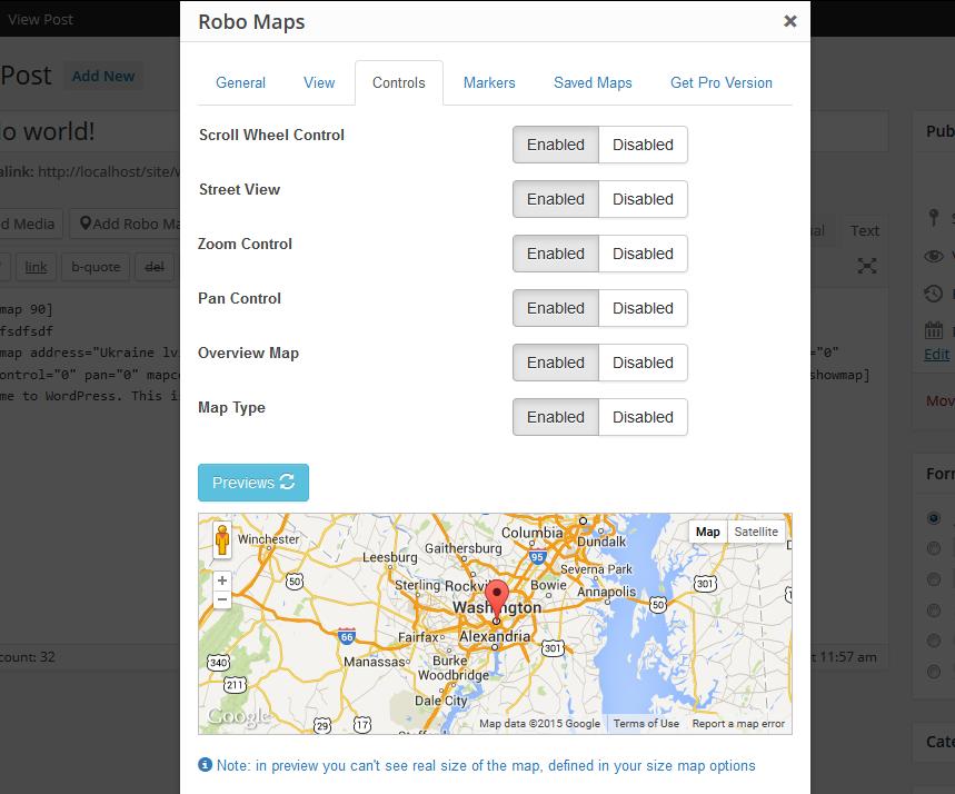 google+maps+widget on wordpress