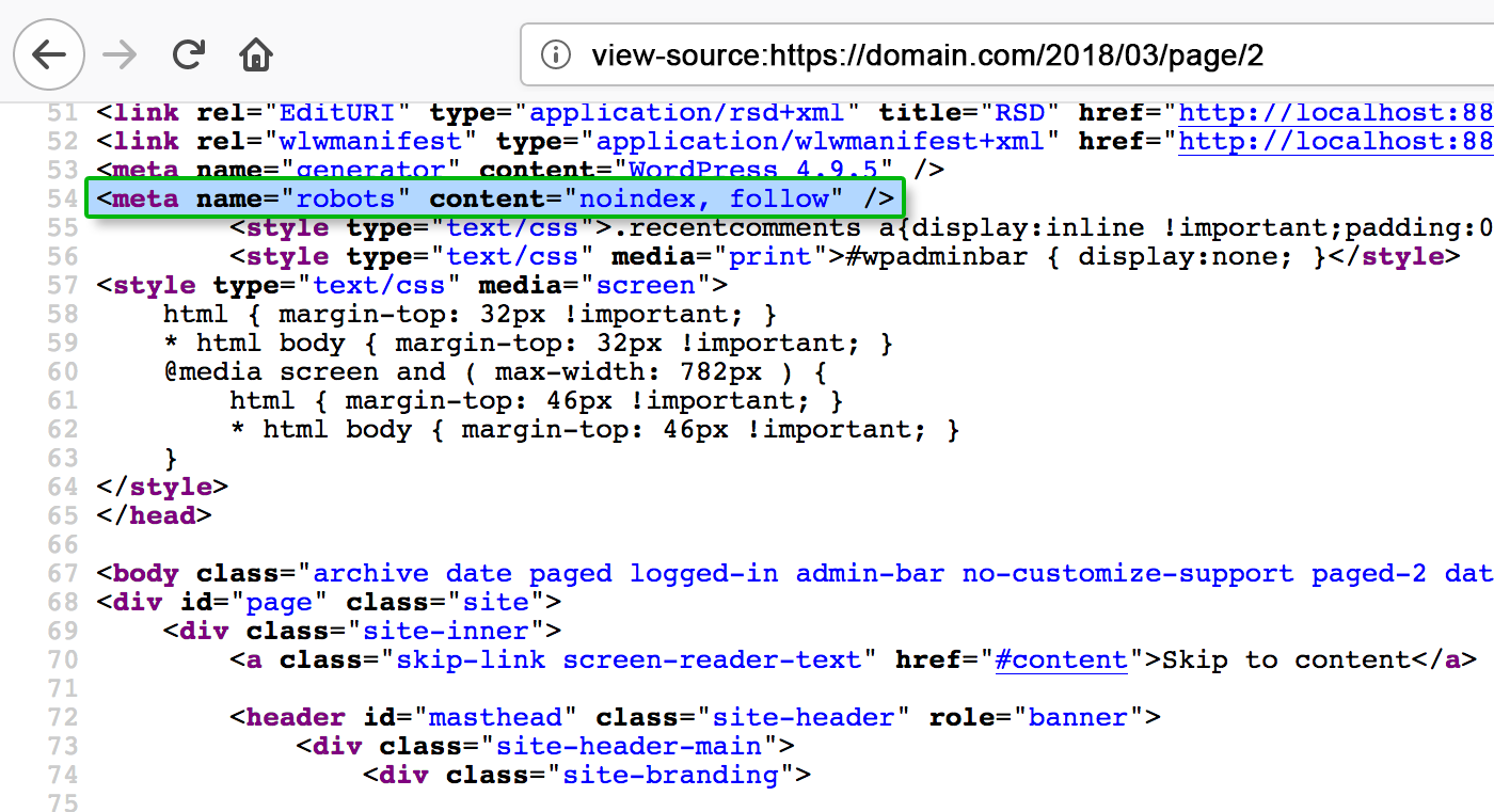 This shows the actual meta-tag that the plugin generates.