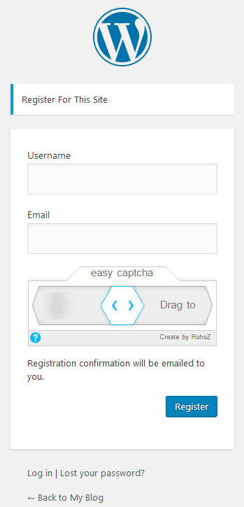 Captcha in comment form