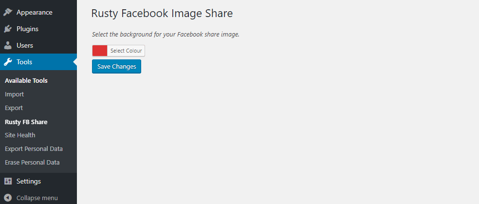 <p>Select the background for your share image within the Tools Menu</p>