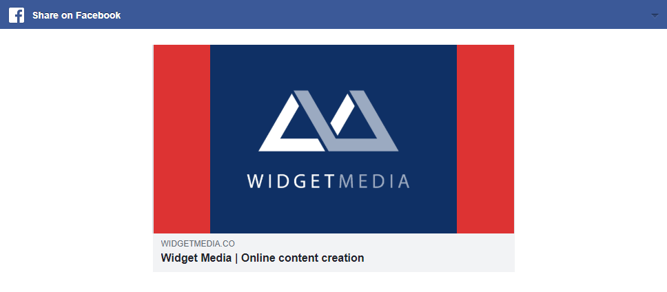 <p>The plugin at work sharing your post thumbnail to Facebook</p>