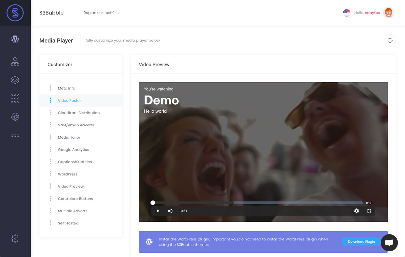 S3Bubble WordPress Video Streaming – WordPress plugin