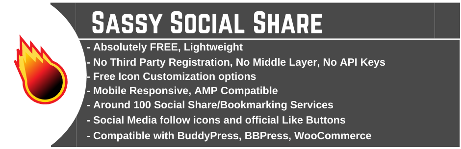 WordPress Social Sharing Plugin – Sassy Social Share