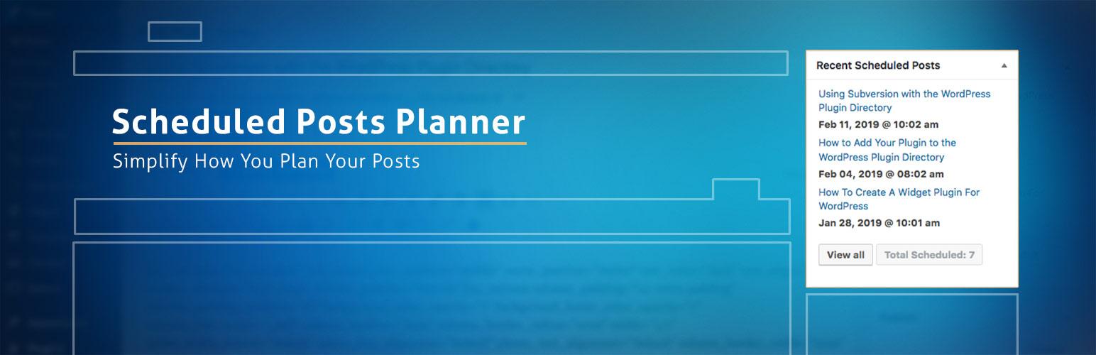 Scheduled Posts Planner