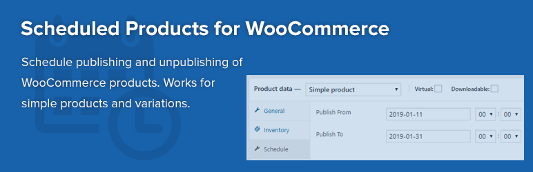 Scheduled Products for WooCommerce
