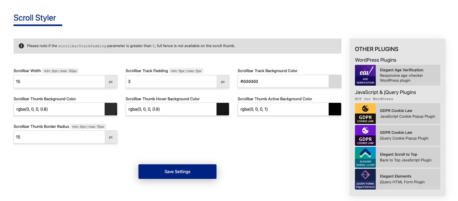 Admin Customization Options